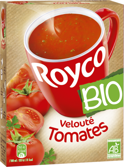 Royco - Gamme Les Bio - Velouté Tomates