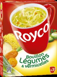 Royco - Gamme Les Bouillons et Mini Pâtes - Bouillon Légumes & vermicelles