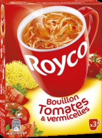 Royco - Gamme Les Bouillons et Mini Pâtes - Bouillon Tomates & vermicelles