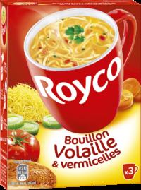 Royco - Gamme Les Bouillons et Mini Pâtes - Bouillon Volaille & vermicelles