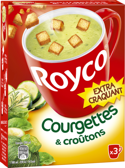 Royco - Gamme Les Extra Craquant - Courgettes & croûtons