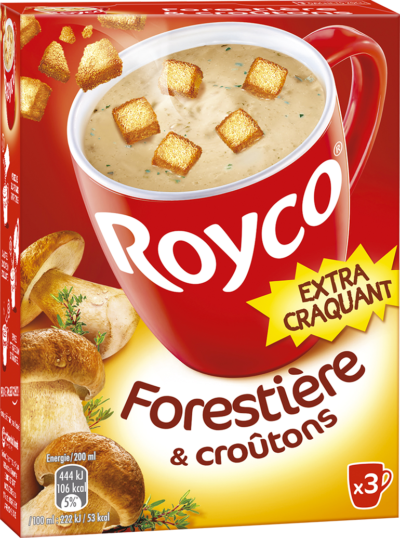 Royco - Gamme Les Extra Craquant - Forestière & croûtons