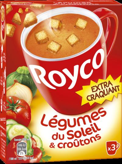 Royco - Gamme Les Extra Craquant - Légumes du Soleil & croûtons