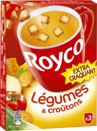 Royco - Gamme Les Extra Craquant - Légumes & croûtons