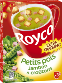 Royco - Gamme Les Extra Craquant - Petits pois Jambon & croûtons