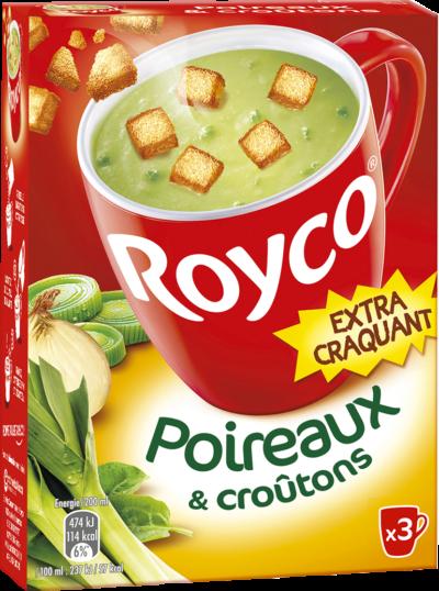 Royco - Gamme Les Extra Craquant - Poireaux & croûtons