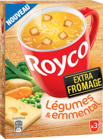 Royco - Gamme Les Extra Fromage - Légumes & Emmental