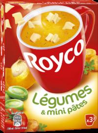 Royco - Gamme Les Bouillons et Mini Pâtes - Légumes & mini pâtes