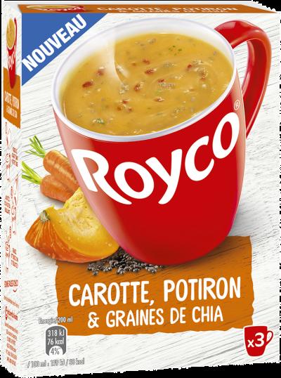 Royco - Gamme Les Graines et Légumineuses - Carotte, Potiron & Graines de chia