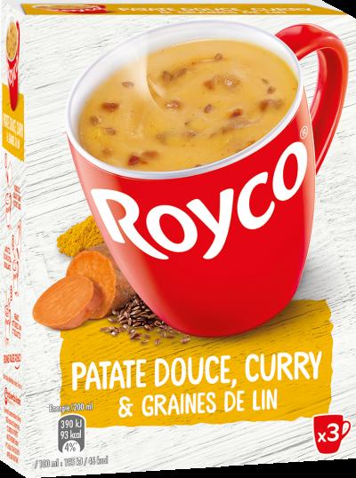 Royco - Gamme Les Graines et Légumineuses - Patate douce, Curry & Graines de lin
